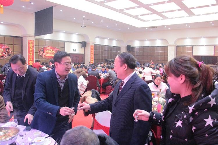 大汉建材在翔天酒店举办团年会