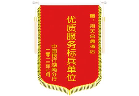 中国银行湖南分行锦旗